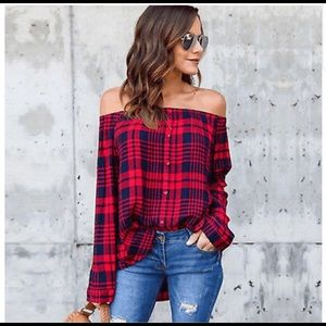 WOMEN'S Flattering Off The Shoulder Long Sleeve